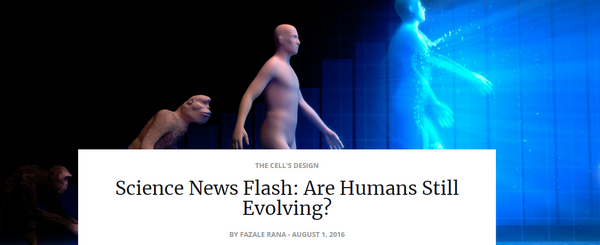 sciencenewsflasharehumansstillevolving